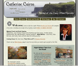 website for Catherine cairns