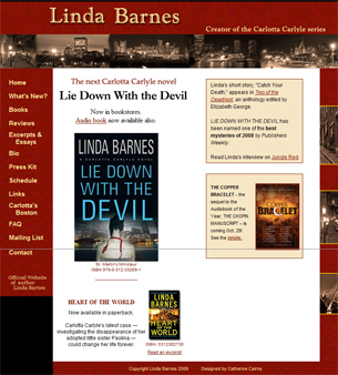 website of Linda Barnes